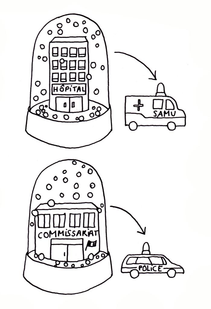 sans titre (gyrophares - boules à neige)