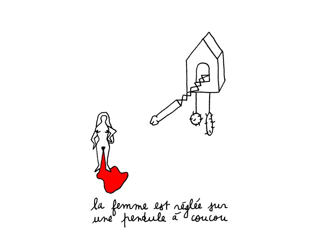 la femme est réglée sur une pendule à coucou