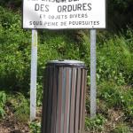 défense de déposer des ordures