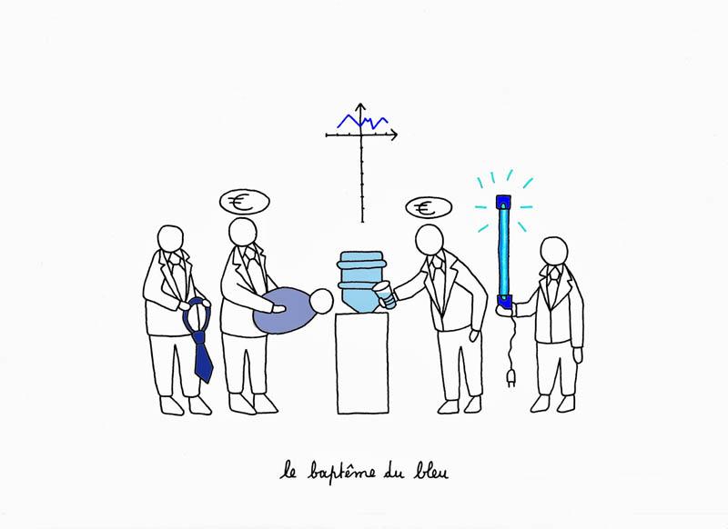 le baptême du bleu