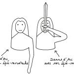 Jeanne d'Arc et l'épée-moustache