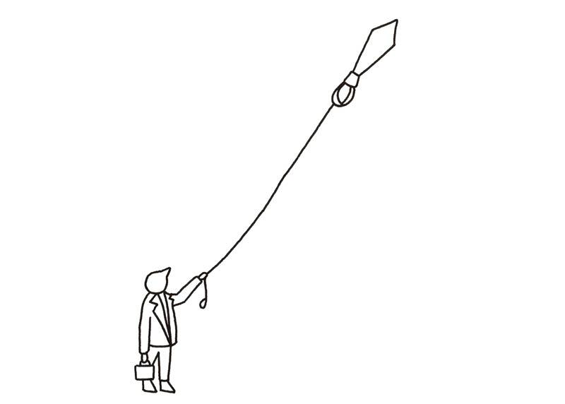 la cravate volante
