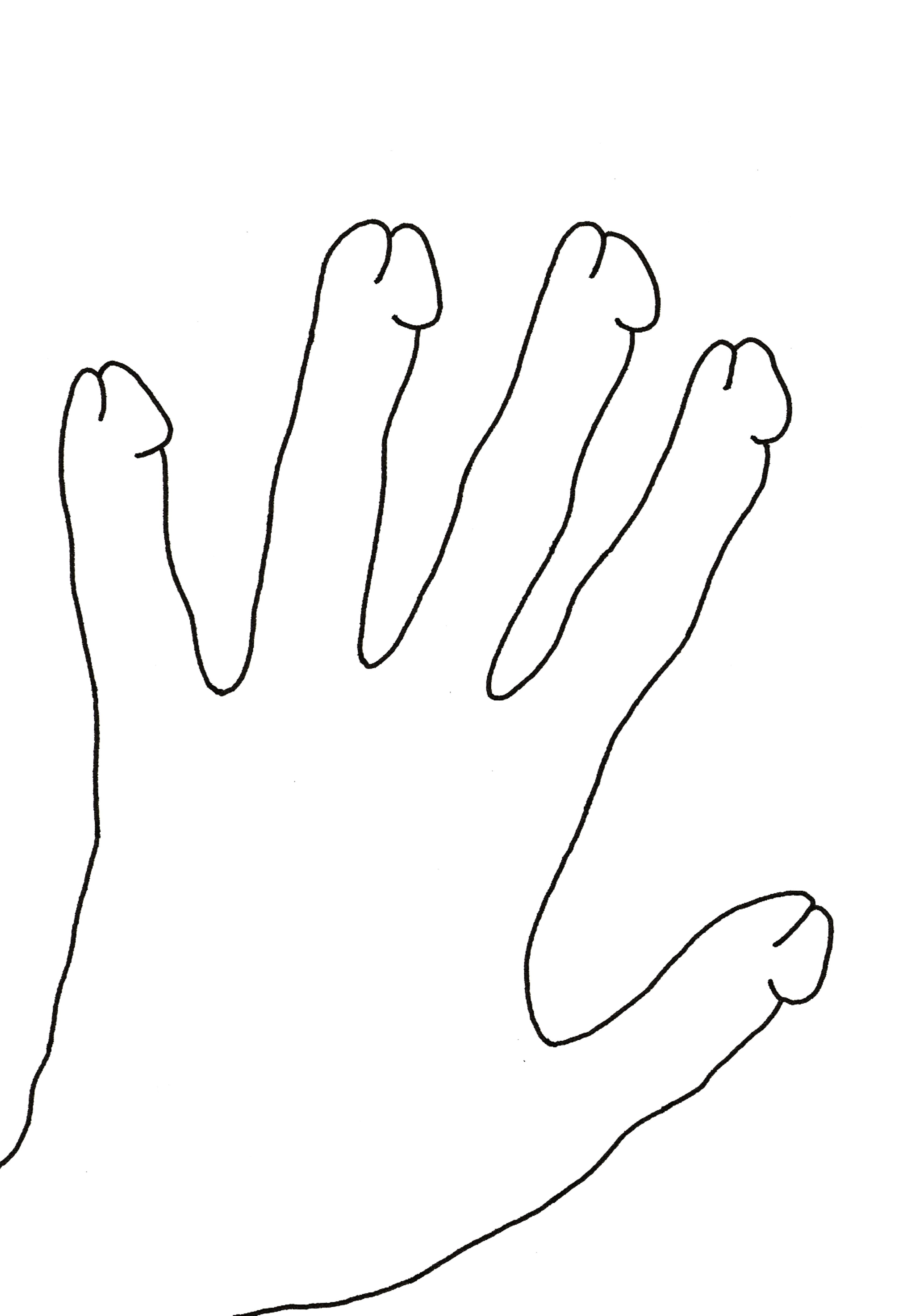 la main lesbienne