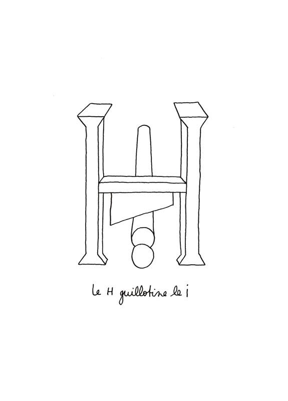 Le H guillotine le I