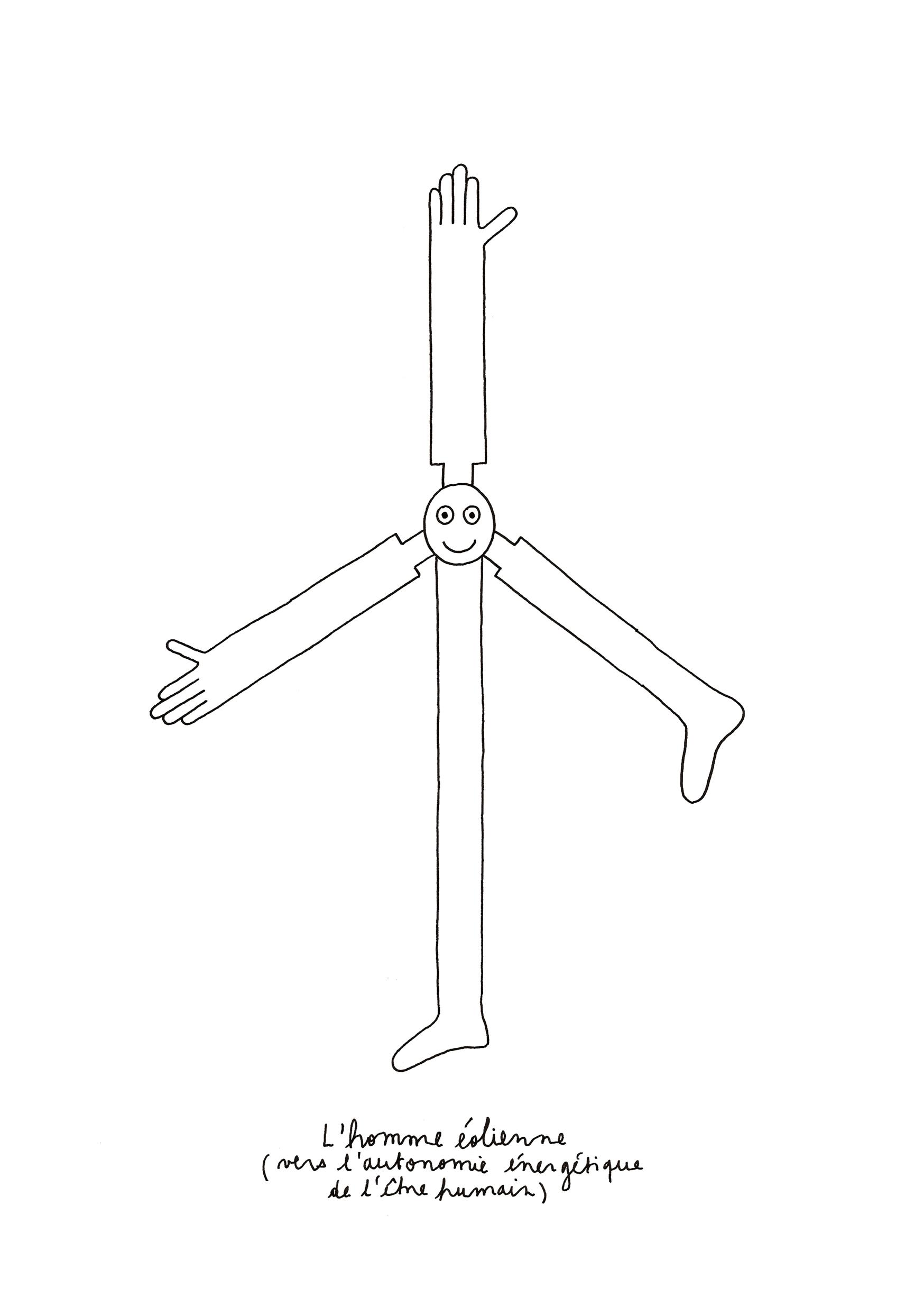 l'homme éolienne