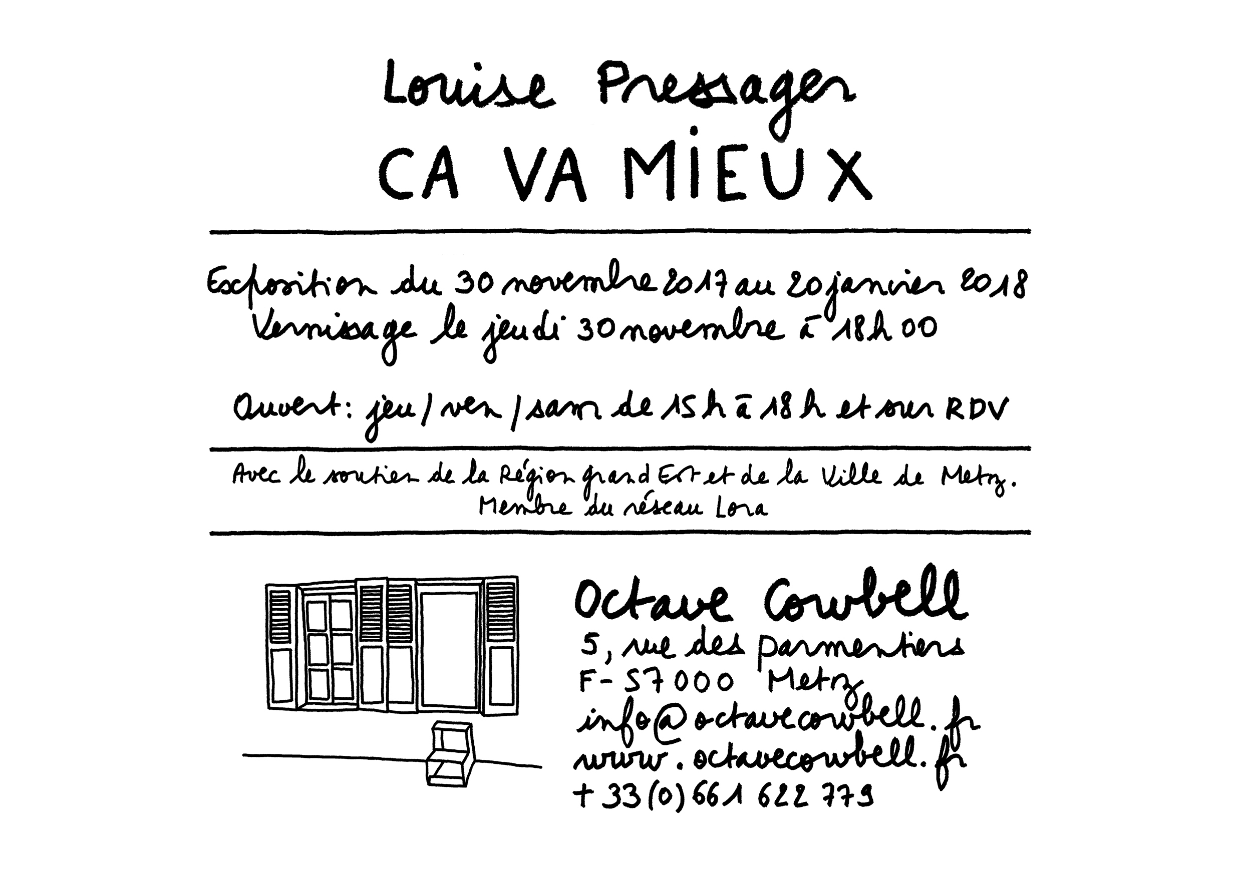 invitation galerie Octave Cowbell
